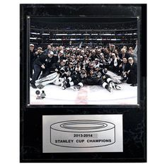 C and I Collectables NHL 15W x 12H in. Los Angeles Kings 2013-2014 Stanley Cup Celebration Plaque - 1215SC14C