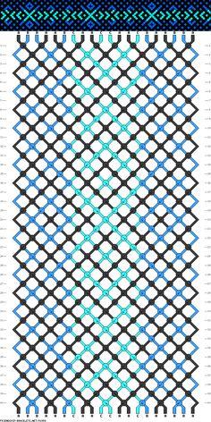Muster # 91958, Streicher: 20 Zeilen: 40 Farben: 3