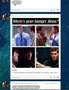 Okay, maybe a little homo. Destiel!! <3 Supernatural   tumblr