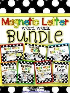 Magnetic Letter BUNDLE: An Entire Year of Word Work Centers.  This might come in handy next year when we change the way we do rotations.