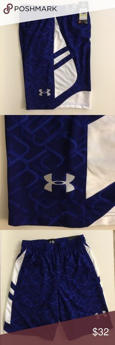 Mens Under Armour Blue Basketball Shorts M XL NEW Mens Under Armour Blue Basketball Shorts Heat Gear  $34.99 Retail Price  Multiple Sizes Available  10 inch inseam   NEW with tags Under Armour Shorts Athletic