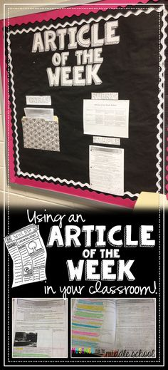 Blog post explains article of the week homework and links to a ton of free resources for implementing them...love it!!! Nonfiction reading, informational text, close reading