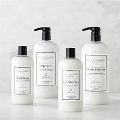 The Laundress® Detergent Collection (Wool Wash, Detergent, Fine Fabric Wash, Fabric Softener) in Laundry | Crate and Barrel