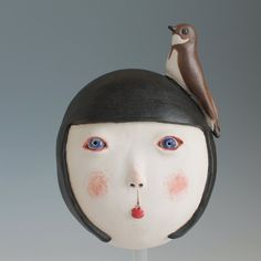 Girl with Sand martin Sand Martin, Chalk Hill, Art Corner, Cloudy Day, Stoneware Clay, Little Birds, Ceramic Pottery, Summer Days, Sculptures