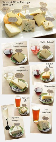 Graphics that help pair wine and cheese perfectly... Like this one, which is perfect for entertaining wine and beer drinkers.