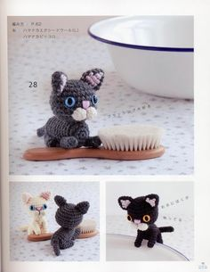 FREE Mini Cats Amigurumi Crochet Pattern and Tutorial (click on right arrow to get to free chart)