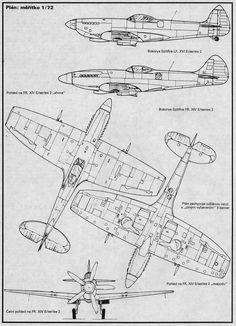 Plan Spitfire XIV et XVI Plastic Kit Revue N°3 - 1991 http://maquettes-avions.hautetfort.com/archive/2011/03/08/aero-plastic-kit-revue.html
