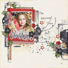Page made by Conny using The Merriest Christmas | Collection by Akizo Designs (Digital Scrapbooking layout)