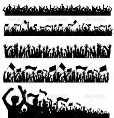 Vector Crowd with Flags — Vector EPS #illustration #hands • Available here → https://graphicriver.net/item/vector-crowd-with-flags/151092?ref=pxcr