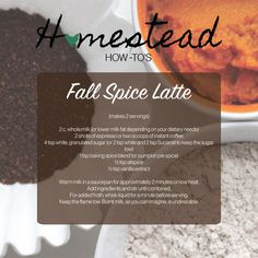 Make your own DIY Fall Spice Latte at home! Save $, eat well.