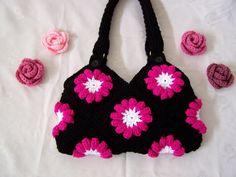 Crocheted Purse/ Beautiful Crochet Handbag