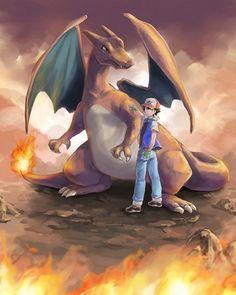 Ash and his Charizard ^.^ ♡