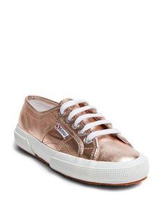 Superga Superga 2750 Metallic Lace-up Sneakers Women's Rose Gold 41