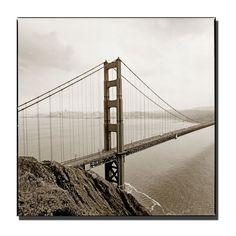 'Golden Gate Bridge' by Preston Photographic Print on Wrapped Canvas