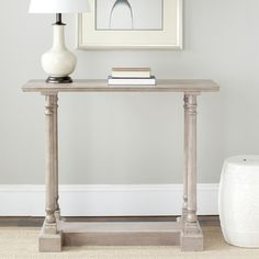 @Overstock - Cape Cod grey console table features a contemporary style and functional design. Constructed with a sturdy wood frame in a versatile grey hue, this will be a welcome addition as an accent showcase piece in any room.http://www.overstock.com/Home-Garden/Cape-Cod-Grey-Console-Table/6971941/product.html?CID=214117 $154.99