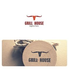 Grill House Logo is highly suitable for ranch, steak house, restaurants, farms, meat and cattle related businesses and services.