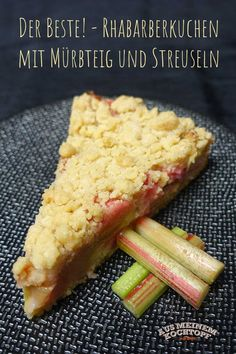 Rhubarb Cake - From my saucepan recipes easy Easy Desserts, Dessert Recipes, Cake Recipes, Greek Diet, Vestidos Vintage, Crunches, Food Items, Smoothie Recipes, Easy Meals