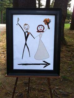 wedding: this way