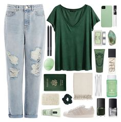 """loving you is easy cause you're beautiful"" by dianakhuzatyan ❤ liked on Polyvore featuring Warehouse, H&M, adidas Originals, Fresh, Topshop, Clinique, Surya, Royce Leather, Eos and Laura Mercier"