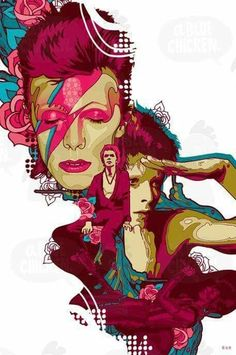 David Bowie RIP David Robert Jones 8 January 1947 Brixton, London, England Died 10 January 2016 (aged Manhattan, New York, U. Murciano Art, David Bowie Art, Arte Sketchbook, Goblin King, Ziggy Stardust, Rock Legends, David Jones, Cultura Pop, Glam Rock