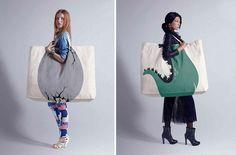 30 Of The Most Creative Shopping Bag Designs Ever creative bag Shopping Bag Design, Shopping Bags, Sacs Design, Creative Bag, Creative Business, Creative Design, Diy Sac, Diy Accessoires, Look Boho