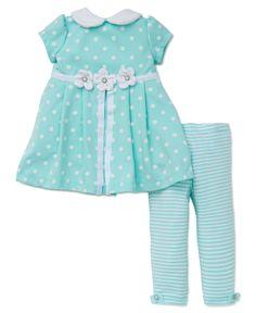 Little Me - Aqua Polka Dot Dress and Legging Set, $18.00 (http://www.littleme.com/aqua-polka-dot-dress-and-legging-set/)