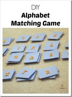 DIY Alphabet Matching Game, so simple!