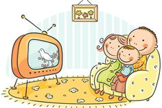Buy Family watching TV Together by katya_dav on GraphicRiver. Happy family watching TV together People Illustration, Book Illustration, Cartoon Familie, Office Graphics, Flashcards For Kids, Cartoon Man, Mind Maps, Photoshop Design, Drawing For Kids