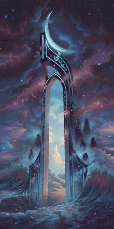My Fantasy World, Fantasy City, Fantasy Places, High Fantasy, Dark Fantasy Art, Fantasy Art Landscapes, Fantasy Landscape, Fantasy Concept Art, Fantasy Artwork