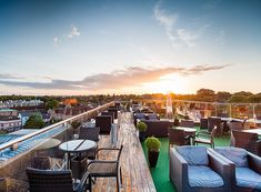 The Roof Terrace at the Varsity Hotel, Cambridge