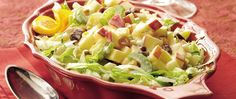 Yoplait® yogurt provides a wonderful addition to this fruit salad that's served on lettuce - a tasty side dish that's ready in 25 minutes.