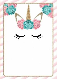 30 ideas birthday invitations unicorn baby shower for 2019 Unicorn Birthday Invitations, Unicorn Birthday Parties, Girl Birthday, Party Invitations, Happy Birthday, Unicorn Baby Shower, Party Time, First Birthdays, Diy And Crafts
