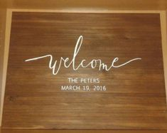 Large rustic welcome sign SALE by VieuxSigns on Etsy