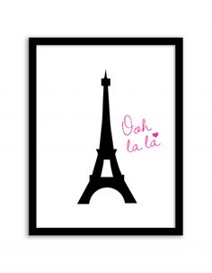 Free Printable Eiffel Tower Art from @chicfetti - easy wall art diy