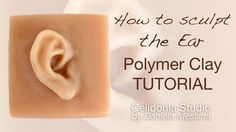 How to sculpt the Ear - OOAK Polymer Clay Tutorial - Sculpting Particula...