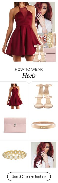 """Just let the light take our hand, we falling deep into Wonderland"" by yazbo on Polyvore featuring Alexander McQueen, Charlotte Russe, Irene Neuwirth, Giuseppe Zanotti, Chanel, women's clothing, women, female, woman and misses"
