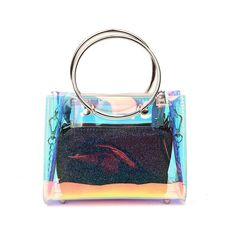 e45e0c3b7939 Holographic Multi-color Clear Bag Transparent Shoulder Bag on Sale with  Worldwide FREE SHIPPING Start