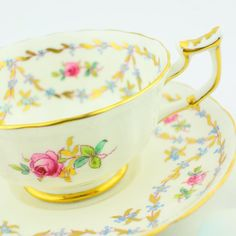 Royal Chelsea fine english bone china cup and saucer  tea party floral