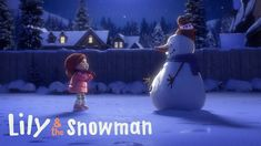 """Lily & the Snowman"" is a heartwarming animated short by Cineplex about the magic of storytelling. In the film young Lily builds a magic snowman who Christmas Music, Christmas Movies, Christmas Videos, Merry Christmas, French Songs, Movie Talk, Film D'animation, 3d Animation, Happy Kids"
