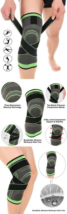CONFIDENCE & IMPROVED MOBILITY - Feel the comfort of all day wear with the 4-way strap design, literally 'cocoon's your knee from every angle and it feels like you're wearing a glove. Your knee is wrapped in support & the flexible compression straps give support to the medial & lateral ligaments helping to stabilize your knee, great for weak knees that give way. #runningnutrition #runningdiet