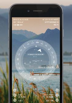 Spyglass App: Compass and GPS mobile app that combines the best features of a hand-held compass and range finding binoculars to take bearings and judge distances.