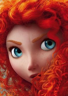 day 8: i think the prettiest princess is merida. nobody notices her beauty!