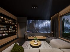 Home Theatre, Home Theater Room Design, Home Cinema Room, Home Theater Rooms, Room Interior Design, Luxury Homes Interior, Home Room Design, House Design, Small Game Rooms