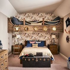 The details in this pirate themed room are amazing!Thanks for the tag @marycookassociates... - Home Decor For Kids And Interior Design Ideas for Children, Toddler Room Ideas For Boys And Girls