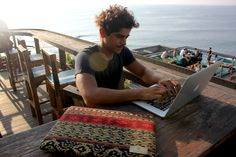 Taking your work outdoors with a Bhinneka case makes for a fun day! Picnic Blanket, Outdoor Blanket, Good Day, Ikat, 21st Century, Hand Weaving, Good Things, The Originals, Fun