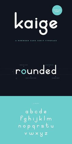 KAIGE™ is a rounded typeface inspired by playful curves and circular forms. It has a simple, soft structure with a strong emphasis on its rounded terminals. Modern Typography, Typography Letters, Typography Poster, Font Alphabet, Typography Layout, Modern Fonts, Typography Quotes, Graphic Design Fonts, Lettering Design