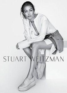 Gigi Hadid by Mario Testino for Stuart Weitzman 2016