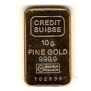 Credit Suisse 10 Gr Gold Bar 35 00 Gold Bar Silver Bars Silver Bullion