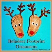 Christmas salt dough keepsakes. Handprint, footprint and fingerprint ornaments. Perfect kid made Christmas gifts from toddlers or preschoolers