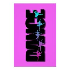 Dance Colored Ballerinas Print